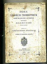INDEX LIBRORUM PROHIBITORUM - LEONIS XIII SUM. PONT. AUCTORITATE # 1907