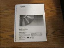Sony RDR-GX300 RDR-GX700 operating instructions user manual