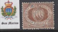 SAN MARINO 1877 30 cent.  Sassone n.6 used  cv 200$ RARE SUPER CENTERED