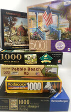 Mixed lot of jigsaw puzzles 500 and 1000 pieces - Artist Series Wooster Boehme