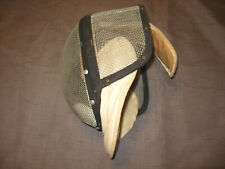 Vintage Castello Nyc Made In Usa Fencing Mask Helmet Wire with neck guard