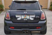 Mini Cooper S R56 Trunk Graphic - Black Grey White English Flag Decal