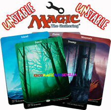 MTG PACK LANDS UNSTABLE ENGLISH CARD MAGIC FULL ART - Forest, Swamp, Plains...