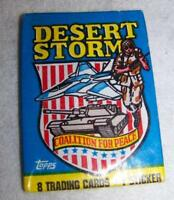 1991 Topps Desert Storm Cards 1 Pk of 8 cards 1 sticker