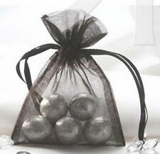 20x Black organza bag pouch wedding party shower favours for gift 11x16cm
