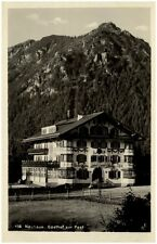 NEUHAUS Schliersee Bayern 1935 Partie Gasthaus Gasthof Zur Post alte Postkarte