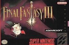 Final Fantasy III (Super Nintendo Entertainment System, 1994) - WITH BOX