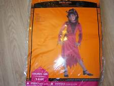 Size Small 4-6X Divine Devil Halloween Costume Red Velour Dress & Headband