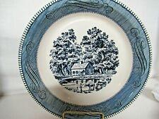 Royal  China Pie Plate Blue