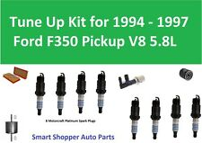 Spark Plugs, Oil Air Fuel Filter Tune Up For 1994 1995 1996 1997 Ford F350 5.8L