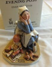 "Vintage Norman Rockwell ""Exasperated Nannie"" 1980 Figurine By Dave Grossman"