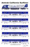 "Amtrak California Surfliner 11""x17"" Poster Andy Fletcher signed"
