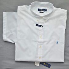 New 3XLT 3XL TALL POLO RALPH LAUREN Men short sleeve button down shirt 3XT white