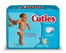 Cuties Diaper, Size 3, Heavy Absorbency Disposable, CR3001 - Case of 144 Diapers