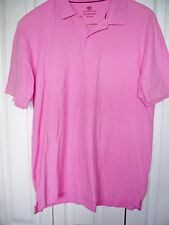 PINK COVINGTON Classic Knit Cotton Short Slv Polo Pullover Casual Large Shirt