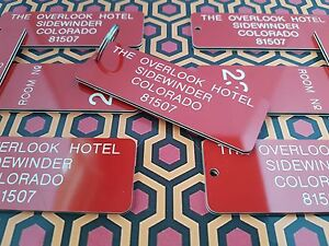 OVERLOOK HOTEL KEY TAG, THE SHINING, JACK NICHOLSON, NOVELTY KEY RING