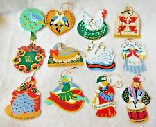 Avon The Gift Collection 12 DAYS OF CHRISTMAS ORNAMENTS Set of 12 Ornaments
