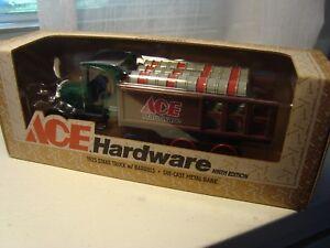 Ace Hardware ERTL 1997 9th Edition 1925 Kenworth Stake Truck Locking Coin Bank