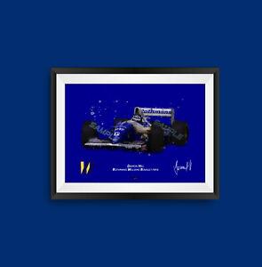 Damon Hill Williams FW16 F1 Art Print - Scuderia GP
