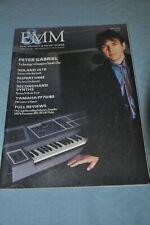 Electronics & Music Maker (E&Mm) June 1986 Peter Gabriel Roland Jx10 Synthesizer