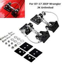 2Pcs Hood Catch Lock Bracket Latch Buckle for 07-17 Jeep Wrangler JK & Unlimited