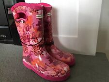 Hunter for Target Kids' Waterproof Tall Rain Boots Abstract Pink Size 2