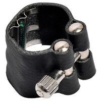 Leather Mark Nozzle Lock Ligature with Straightener for Alto Tenor Standard S SS