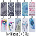 New Clear Soft Silicone TPU Rubber Gel Back Case Cover For iPhone 5S 5C 6 6 Plus