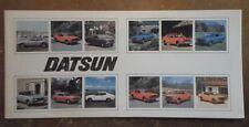 DATSUN RANGE 1976 UK Mkt Sales Brochure - 260Z 260C Laurel Six Bluebird Cherry