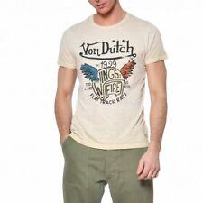 VON DUTCH T-Shirt Col Rond Coton Homme Wing Coloris Beige WING/BE