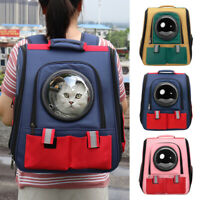 Dog Carrier Backpack Cat Transparent Breathable Travel Shoulder Bag Reflective