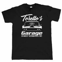 Toretto's Garage, Mens Muscle Car T Shirt - Gift Him Dad Hemi Dodge Drag Racing