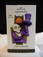 Hallmark Halloween Ornament 2013 Stand-Up Skeleton Nib