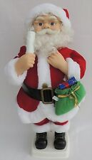 """23"""" TELCO Animated Lighted SANTA CLAUS Xmas Motionette Doll Display Figure 133"""