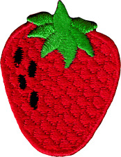 22141 Strawberry Fruit Red Berry Food Healthy Cute Embroidered Iron On Patch