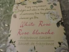 WHITE ROSE Scented Sachet, 2 pack package, as shown