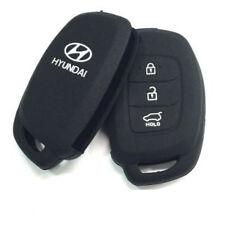 Black Silicone Car Auto Remote Fob Key Holder Case Cover For Hyundai i20