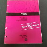 John Deere JD302-A Loader & Backhoe/Loader Operator's Manual OM-T42818 Issue J3