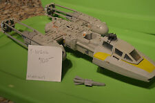 Vintage Star Wars Y-Wing Fighter (missing one front gun,non-working electronics)