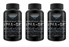 3 BOTTLES Absonutrix ALPHA GPC Xtreme 300mg Nootropic Brain Memory 60 Pills 3X