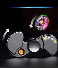 Electric Lighter LED Light Up and Metal Fidget Spinner USB Charging - Flameless