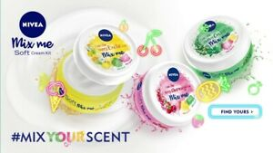 3 x 100 ml Nivea Soft Mix Me Berry CHARMING Chilled OASIS Happy EXOTIC Free Post