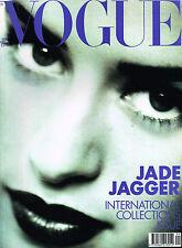 VOGUE UK 09/1990 JADE JAGGER Helena Christensen ROBERTA CHIRKO STEPHANIE SEYMOUR
