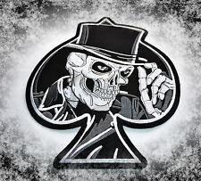 Skull Patch,XL,Rückenaufnäher,Badge,666,Ace Of Spades,Biker,Kutte,Aufbügler,Big