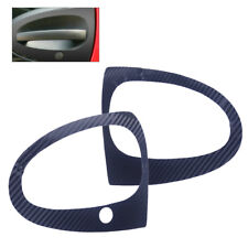 2x Carbon Fiber Door Handle Car Decal Sticker Fit Smart Fortwo 451 Brabus 07-14