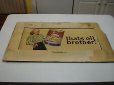 "1950's ESSO MOTOR OIL AD - ORIGINAL ART WORK, VERY NICE, 15"" X 22""."
