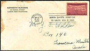 USA North Dakota Statehood 1939 FDC (297)