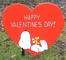 Ground Stake Valintines Day Heart Snoopy Woodstock Peanuts Gang lawn art