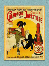 vintage retro style Champagne advert poster image metal sign wall door plaque