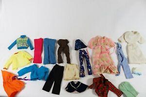 VINTAGE BARBIE KEN DOLL FASHION CLOTHING 18 pc NURSE MAID, PANTS, DRESS, SHIRTS